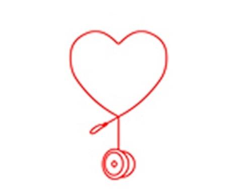 Love Heart Yoyo T-Shirt White Large