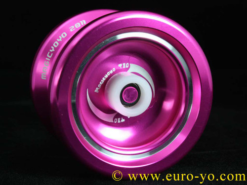 Magic YoYo T10 Dark Angel 2 Pink with white hubstacks