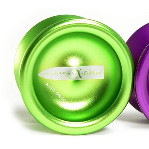 X-Yo Xcalibur Special Edition Unresponsive Aluminium Pro Yoyo Green