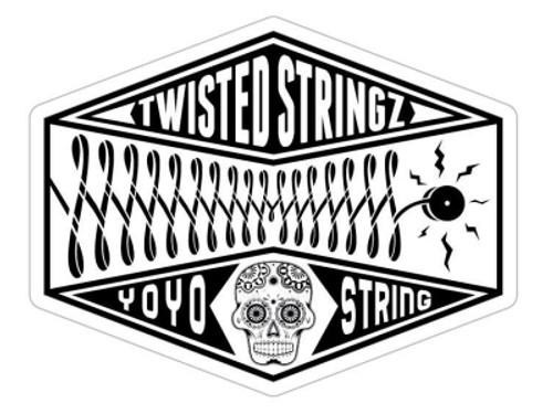 Twisted Stringz Sticker x1