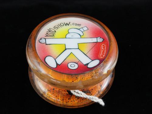 John Higby Hand Painted ProFly Yo-Yo with custom printed pogs DESIGN #1