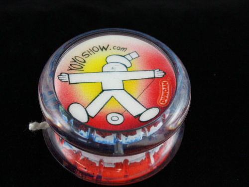 John Higby Hand Painted ProFly Yo-Yo with custom printed pogs DESIGN #2