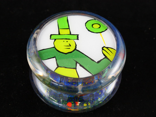 John Higby Hand Painted ProFly Yo-Yo with Hand Painted pogs DESIGN #16