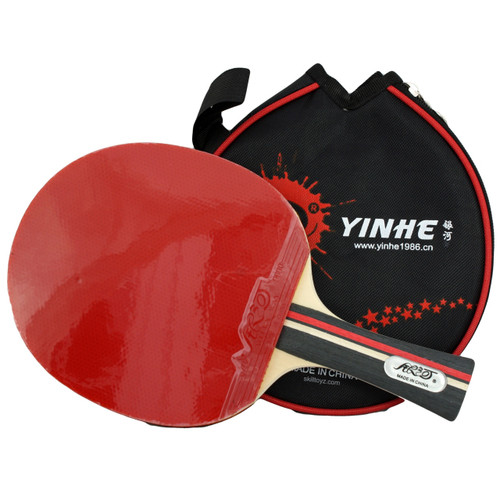 Yinhe Sports Table Tennis Bat with black padded Case. Racket model number 01B.