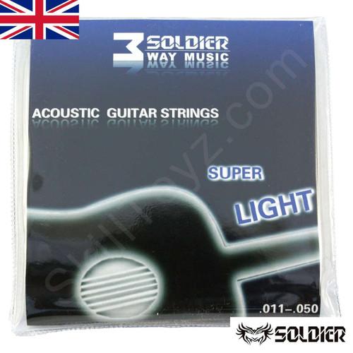 Soldier Super Light Acoustic Guitar String Set