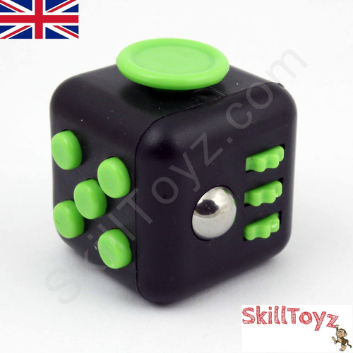 Fidget Cube - Six sides – six functions – endless fidgeting! Colour: Black and green