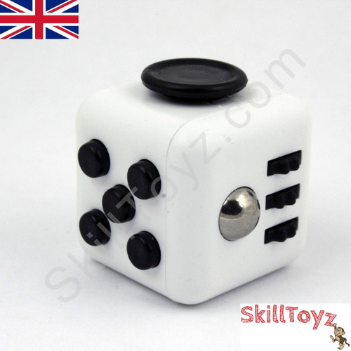 Fidget Cube - Six sides – six functions – endless fidgeting! Colour: White and Black