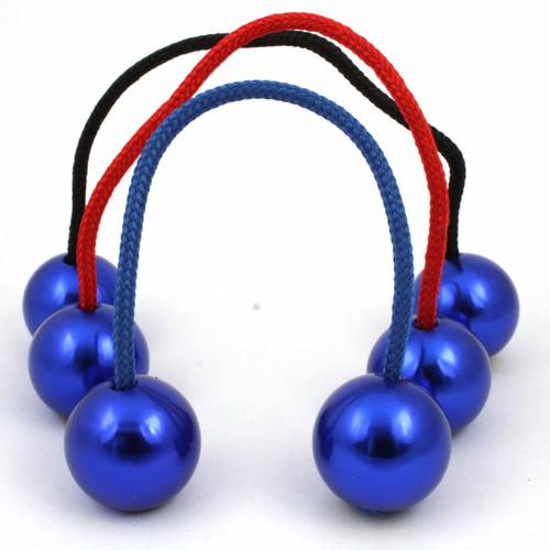 Blue metal Begleri with blue Aluminium Beads