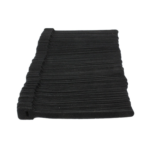 100 Cable Ties Small Hook and Loop Wraps Black 152x8mm