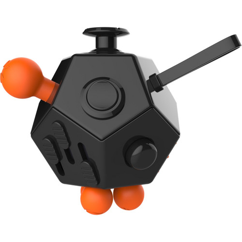 Top quality Fidget Cube 12 Sided Desk Toy Black