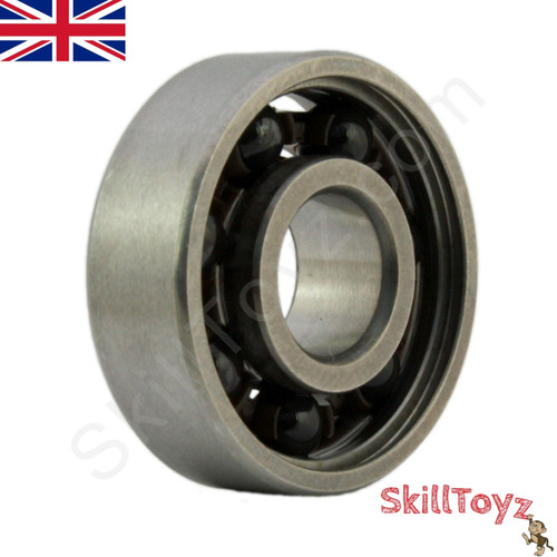 Oblique view of the Size 608 Hybrid Ceramic Si3N4 ball bearing