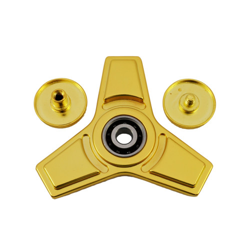 Metal fidget spinner with Silicon nitride (Si3N4) hybrid ceramic 9 ball centre bearing.