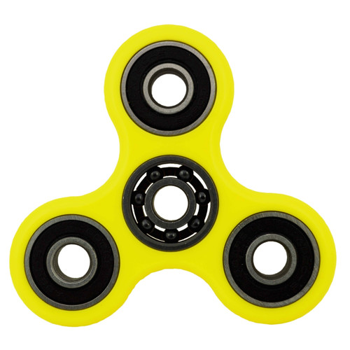 Shown with the yellow finger-pads removed from the Si3N4 608 ceramic centre bearing. A spinner is a fingertip gyroscope, and is a popular fidget toy.