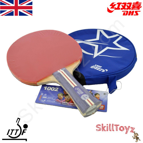DHS (Double Happiness) R1002 Table Tennis Bat and Case ... 2e68160518162