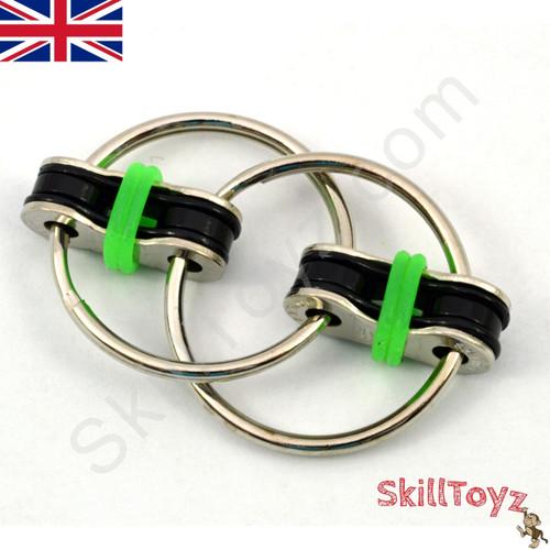 Fidget bike chain finger toy - green