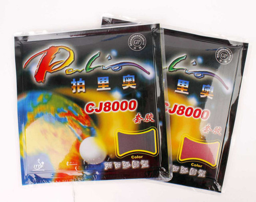 Palio CJ8000 Two Side Loop Table Tennis Bat Rubbers 36-38 CHOOSE COLOUR