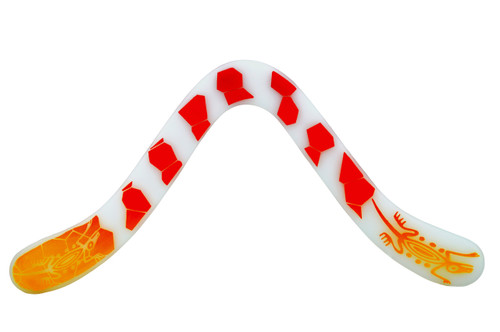LMI and Fox Boomerangs Technic float  boomerang in white, RIGHT HANDED.  A very good choice for the beginner.