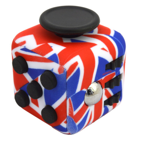Premium Edition Fidget Cube featuring a larger body and soft touch rubberised finish. UK edition.