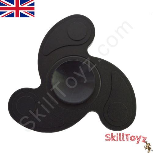 Premium quality aluminium black cyclone edition spinner fidget toy from SkillToyz.