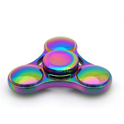 Finger Spinner UFO toy made from Zinc Alloy  with a beautiful rainbow finish.