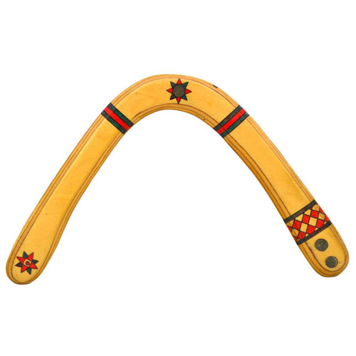 """Highland Fling Boomerangs replica Herb Smith """"Star"""" Model showing the attention to details on the artwork and weighting."""