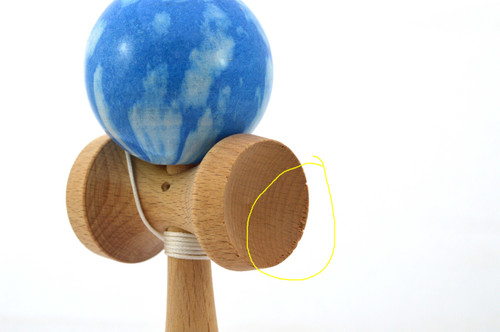 "Clearance item #154 Dragon Kendama ""Blue clouds"" IMPERFECT"