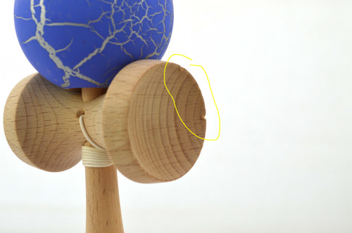 "Clearance item #155 Dragon Kendama ""Blue skin"" IMPERFECT"
