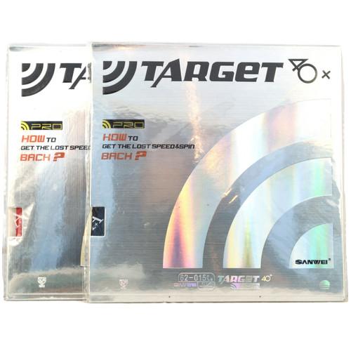 2 x Sanwei Europe Target 40+ Pro Table Tennis Bat Rubbers MAX