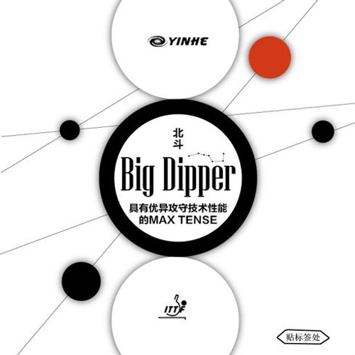 Yinhe Big Dipper Table Tennis Bat Rubbers medium 39 degree hardness - set of two (one red, one black)