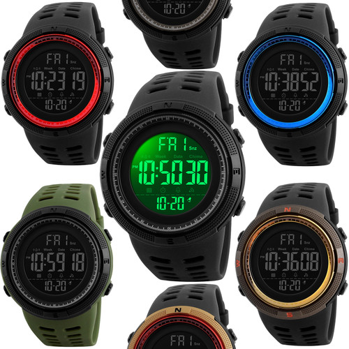 SKMEI 1251 Multifunction Waterproof Digital Sports Watch with Stopwatch and Countdown Timer