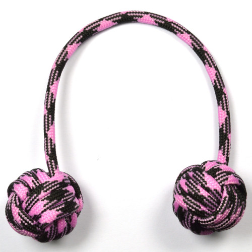 Monkey Fist Begleri 6 Inch Black-Pink Edition