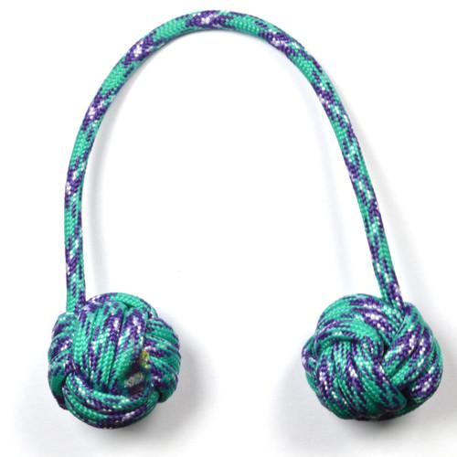 Monkey Fist Begleri 6 Inch Turquoise-Purple Edition