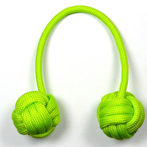 Monkey Fist Paracord Begleri 5 Inch Lime Edition