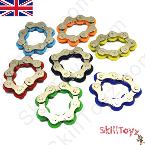 Fidget Bike Chain Finger Roller 8 Links