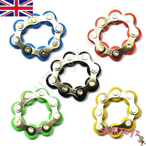 Premium Fidget Bike Chain Finger Roller 8 Links