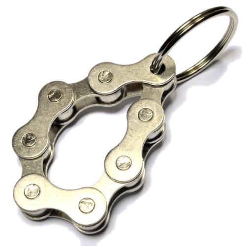 8 Link key ring / key fob steel bike fidget chain