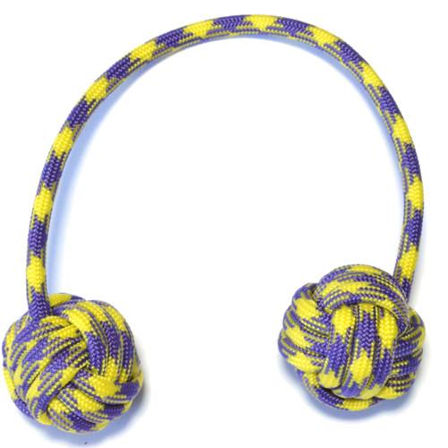 Monkey Fist Paracord Begleri 6 Inch Purple & Yellow Edition
