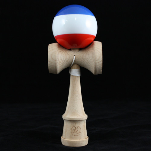 Dragon Wooden Kendama skill toy red-white-blue 'Revolution' Edition