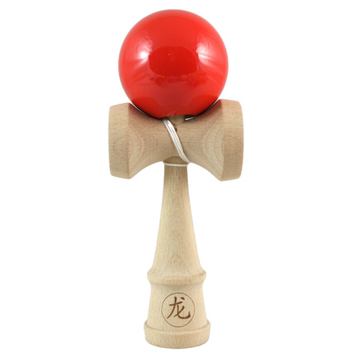 Dragon Wooden Kendama Solid 'Red Hot Chilli' colour