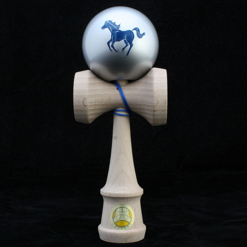 Ozora Year of the Horse Zodiac Edition Japanese Wooden Kendama - Silver