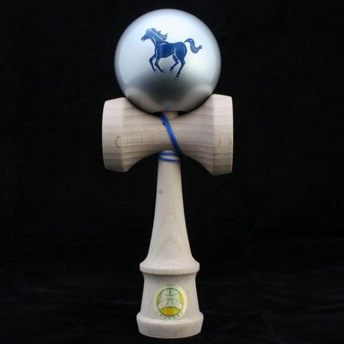 Ozora Year of the Horse Zodiac Edition Japanese Wooden Kendama - Silver