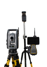 """Trimble S7 3"""" DR+ Robotic Total Station Kit w/ TSC7 Data Collector & Access Software"""