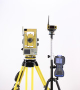 Topcon QS3A Robotic Total Station Kit w/ Ranger 3 Data Collector & Survey Pro Software