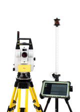 """NEW Leica iCR70 5"""" Robotic Total Station Kit w/ CS35 10"""" Tablet & iCON Software"""