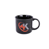 4K Equipment Ceramic Black 13 oz. Campfire Coffee Mug