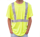 4K Equipment Green High Visibility Safety T-Shirt
