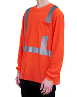 4K Equipment Orange High Visibility Long Sleeve