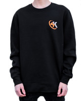 4K Equipment Black Crewneck Long Sleeve