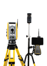 "Trimble S6 3"" DR+ Robotic Total Station w/ TSC7 Data Collector & Access Software"