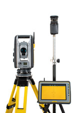"Trimble RTS673 3"" DR HP Robotic Total Station Kit w/ Kenai Tablet & Fieldlink for MEP"